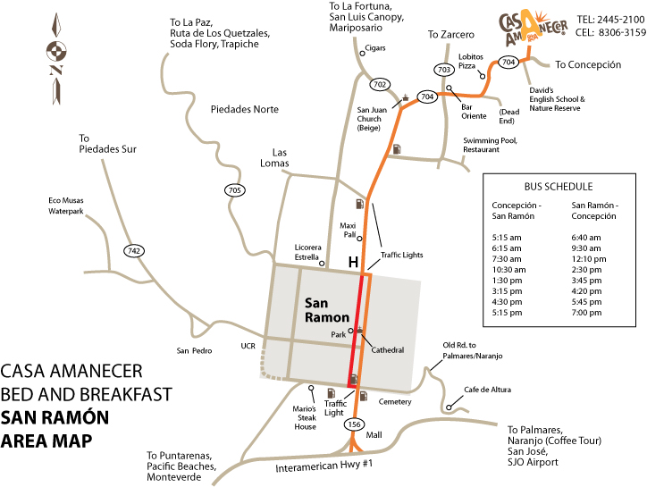 San Ramon Area Map